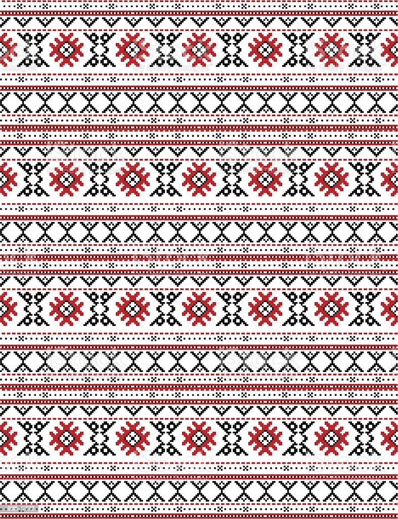 The russian traditional embroidery. vector art illustration