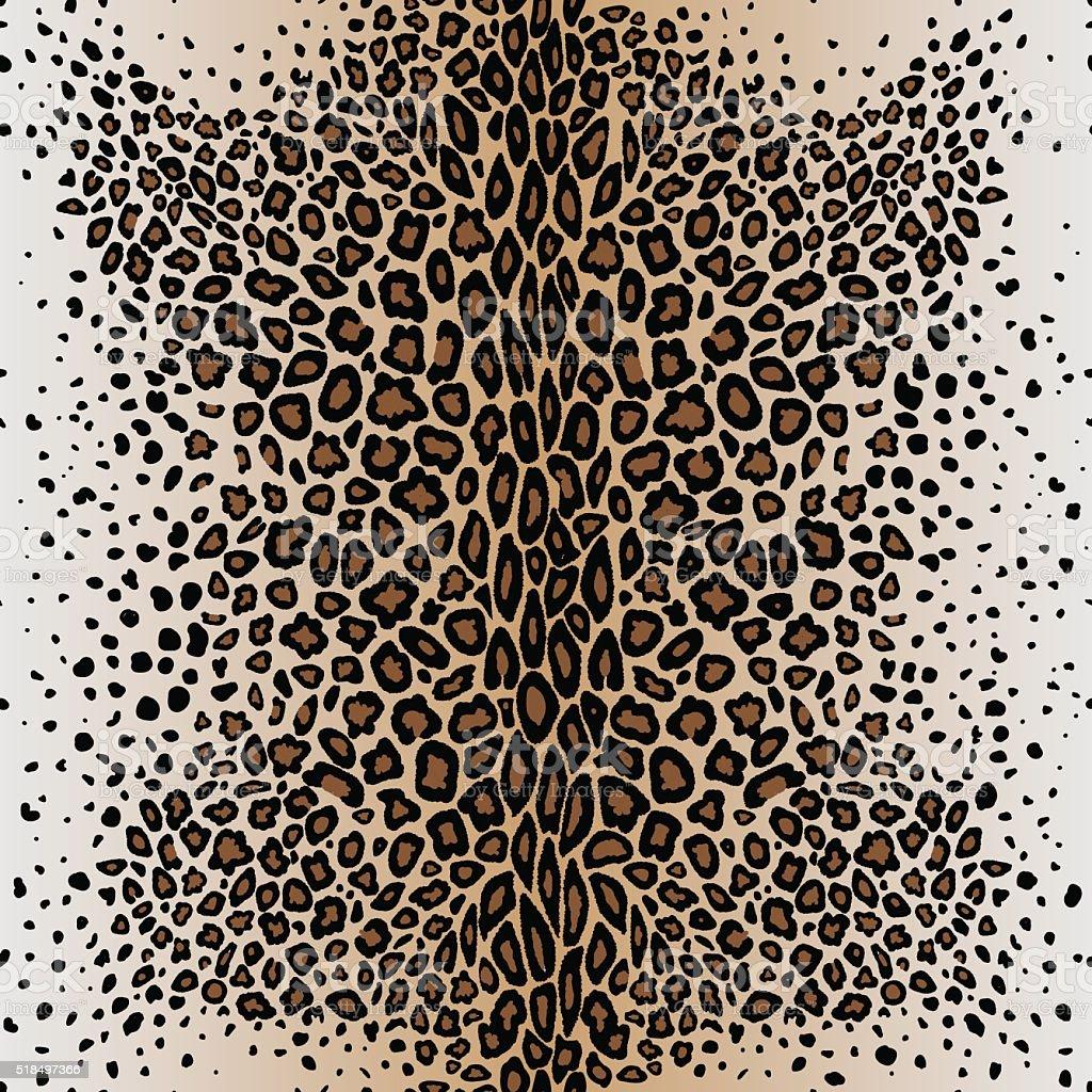 The seamless vector pattern leopard`s skin vector art illustration