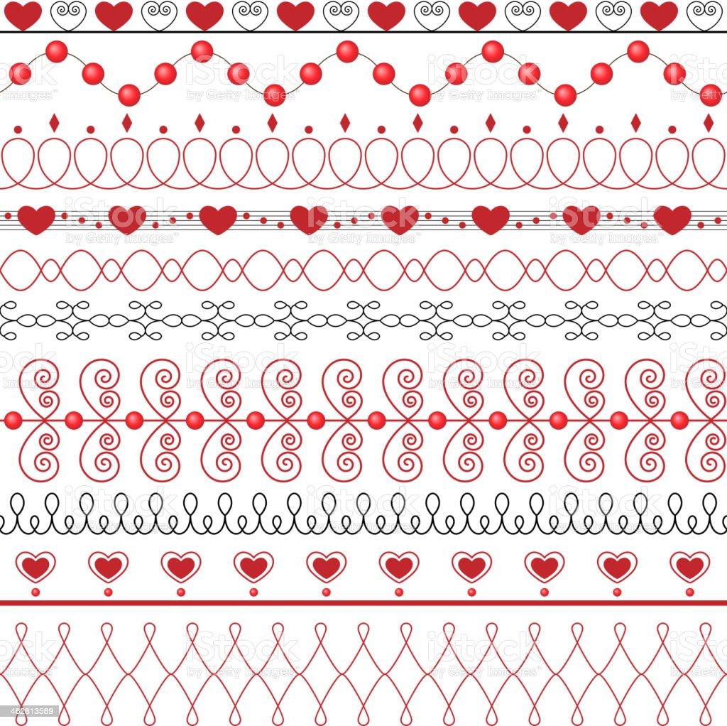 The set of ten decorative elements royalty-free stock vector art