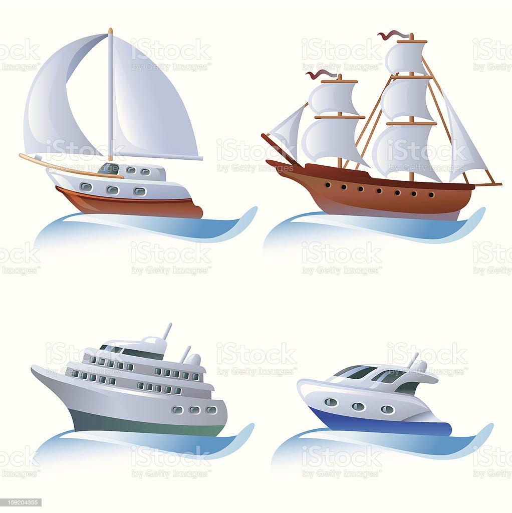 The ships royalty-free stock vector art