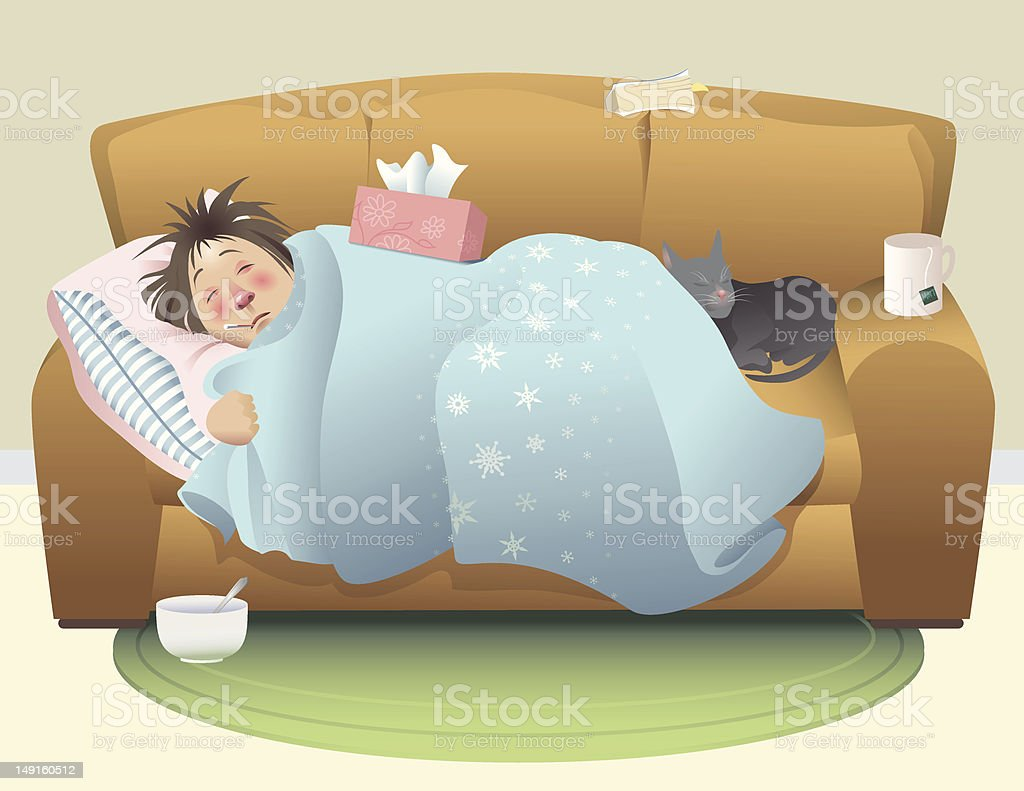 The Sick Day royalty-free stock vector art