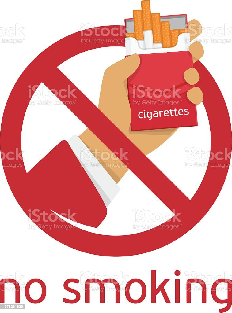 The sign no smoking vector art illustration