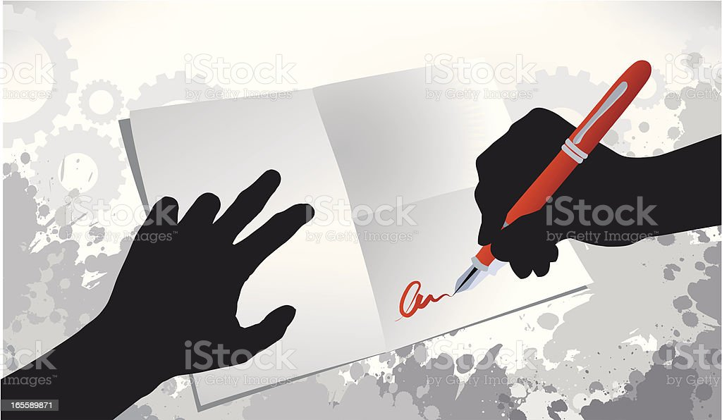 The signing date vector art illustration