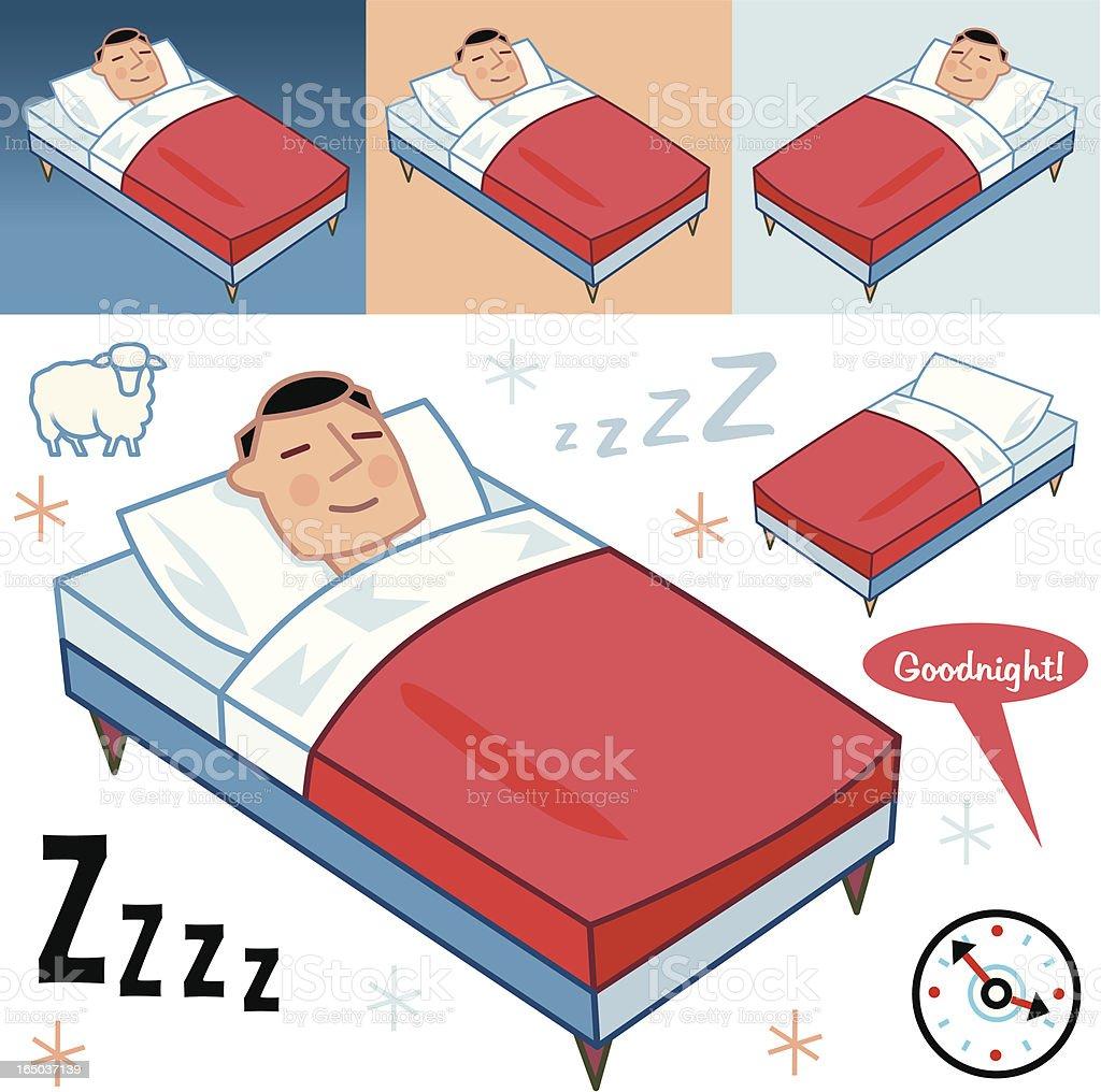 The Sleeper vector art illustration