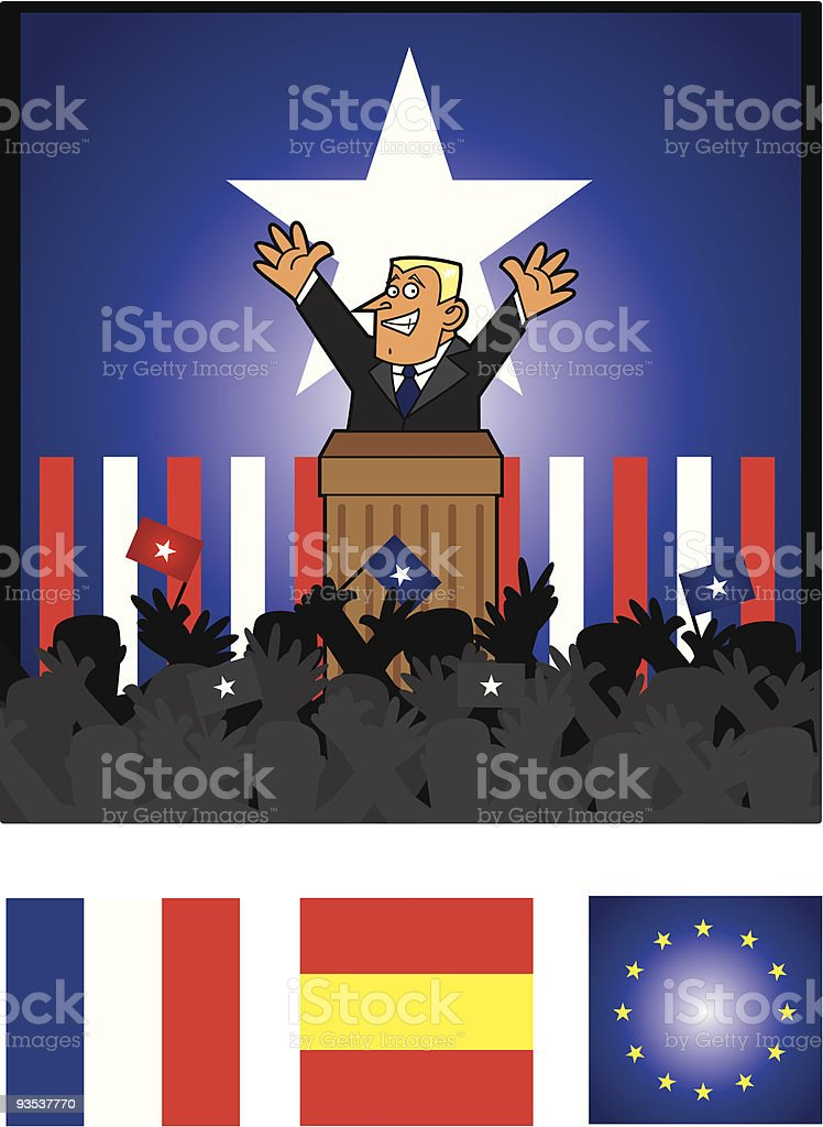 The speaker royalty-free stock vector art
