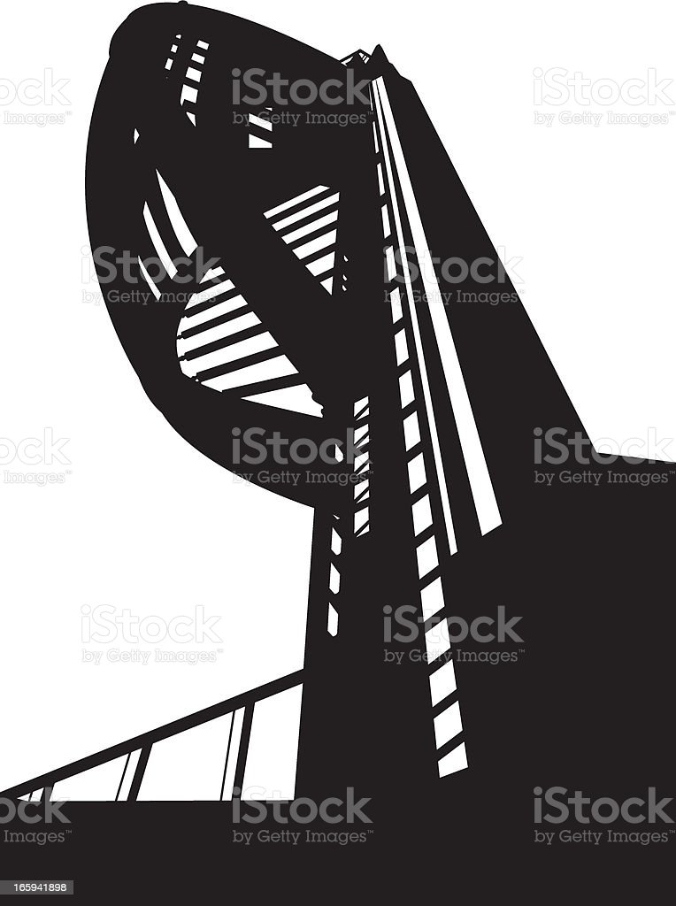 The Spinnaker Tower in Silhouette royalty-free stock vector art
