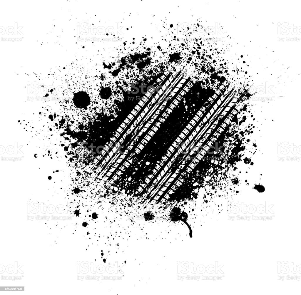The splash is a black tire track royalty-free stock vector art