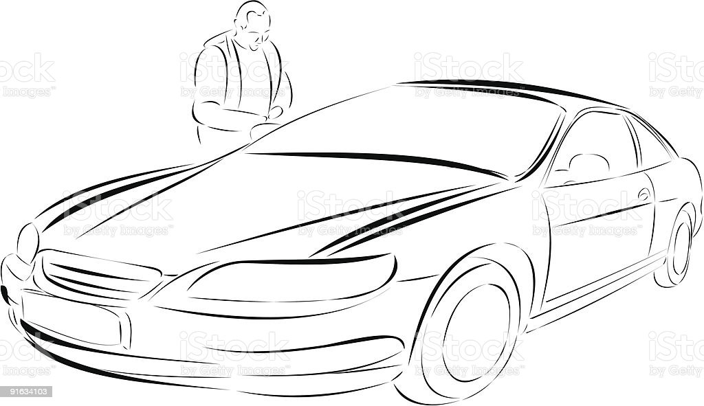 the sport auto royalty-free stock vector art