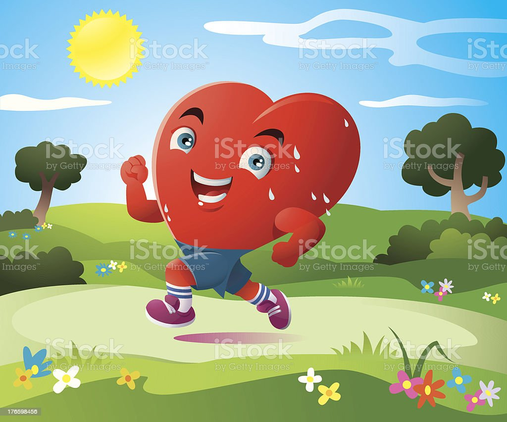 the sport of heart royalty-free stock vector art