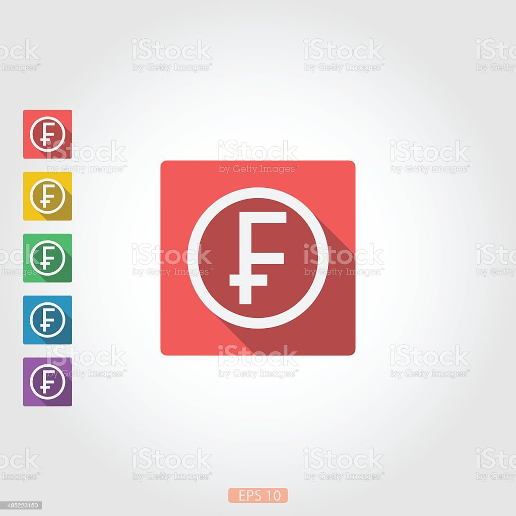 The square icon badge franc vector art illustration