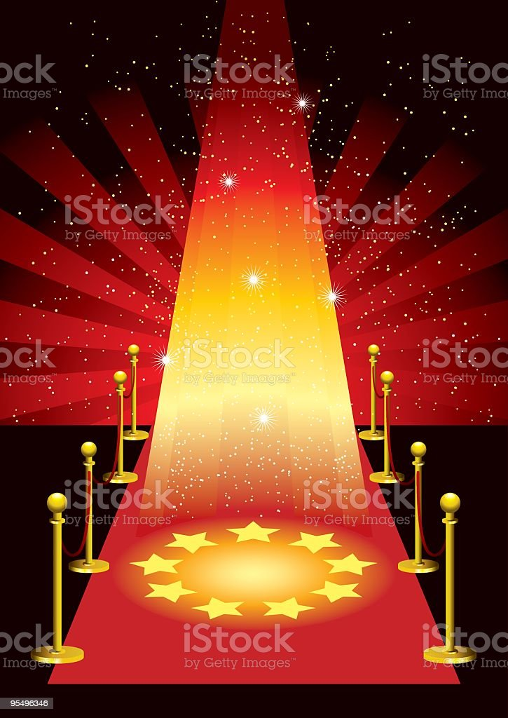 The Star is Born royalty-free stock vector art