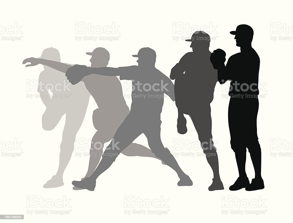 The Stretch Vector Silhouette vector art illustration