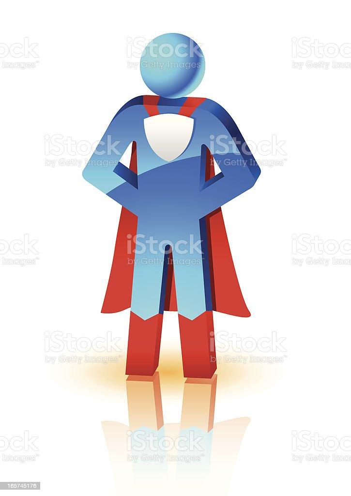 The super hero royalty-free stock vector art