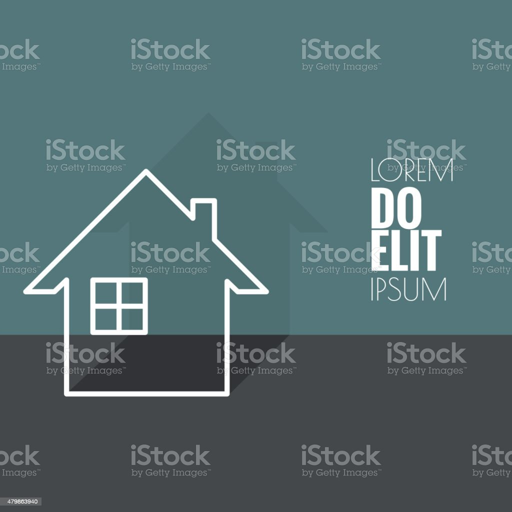 The symbol of a dwelling house vector art illustration