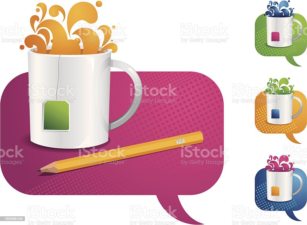 The Tea Cup Banner royalty-free stock vector art