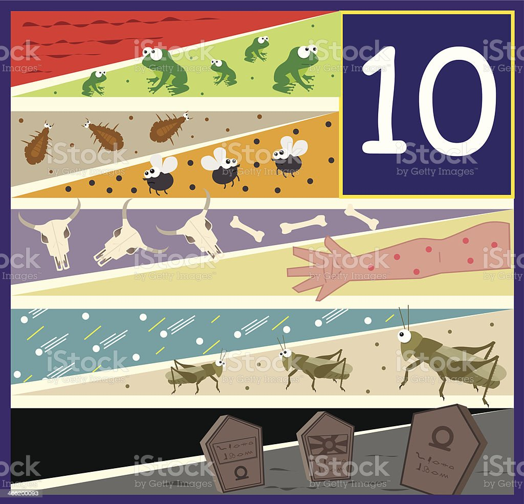 The Ten Plagues royalty-free stock vector art