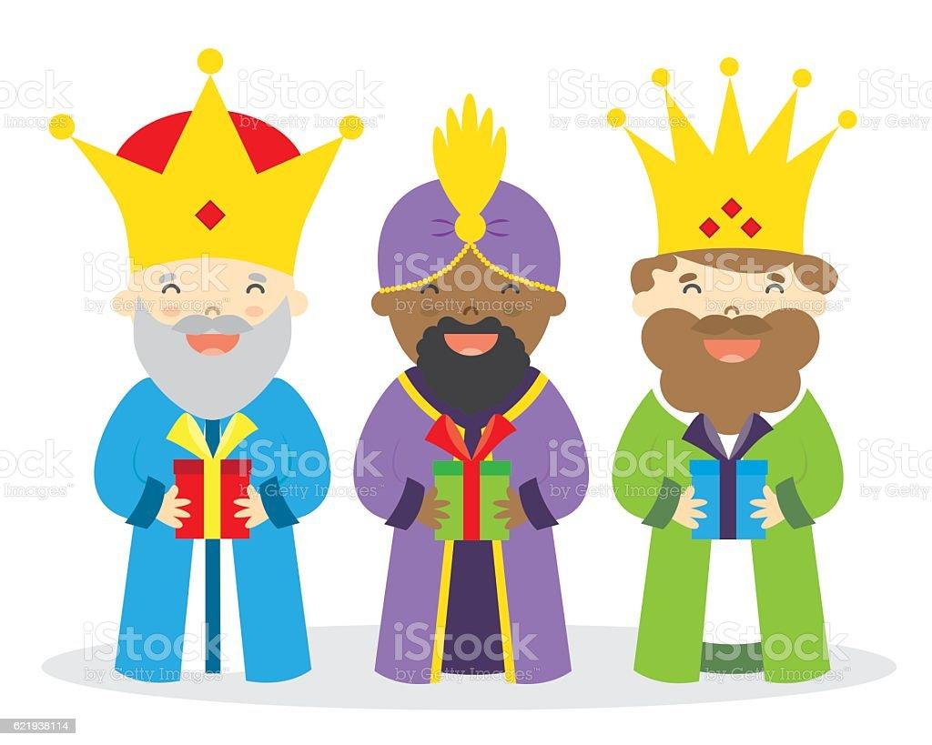 The three kings of orient vector art illustration