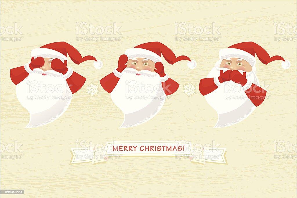 The Three Wise Santas royalty-free stock vector art
