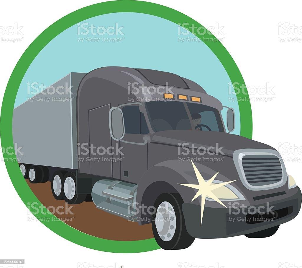 the trucks for transportation of goods vector art illustration