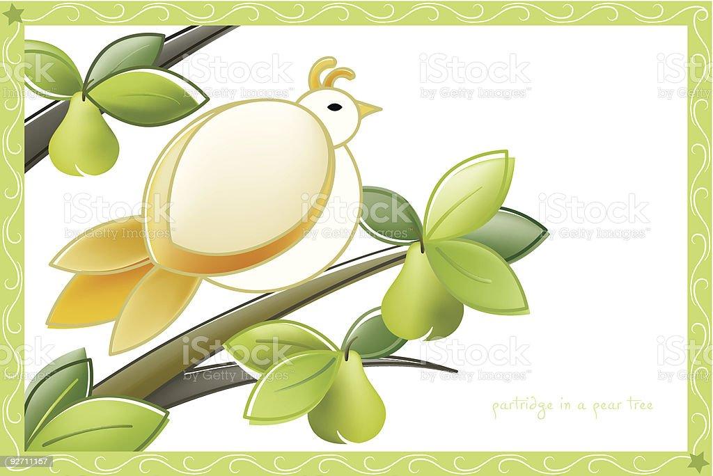 The Twelve Days of Christmas Postcard Vector Series royalty-free stock vector art