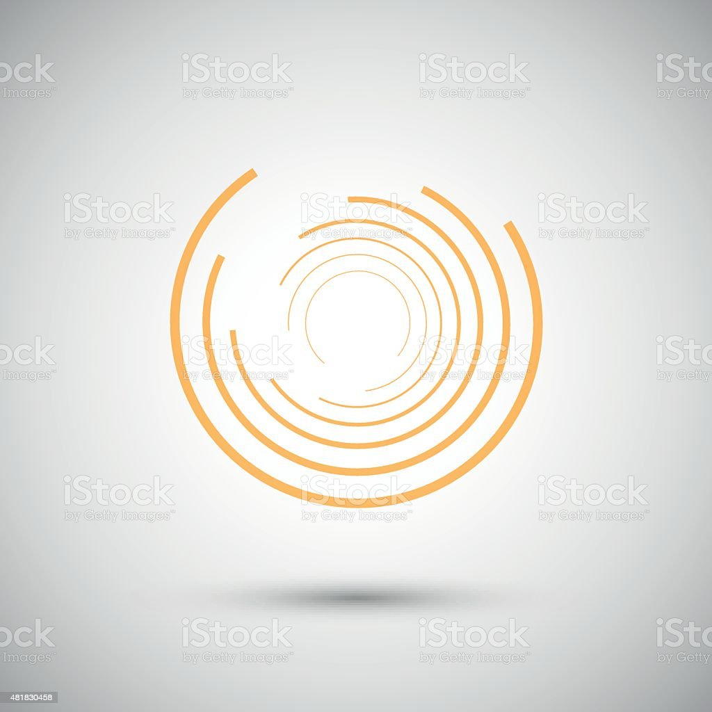 the twirl elements of a simple design stock vector art  circle concepts topics geometric shape internet presentation