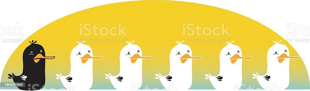The Ugly Duckling vector art illustration