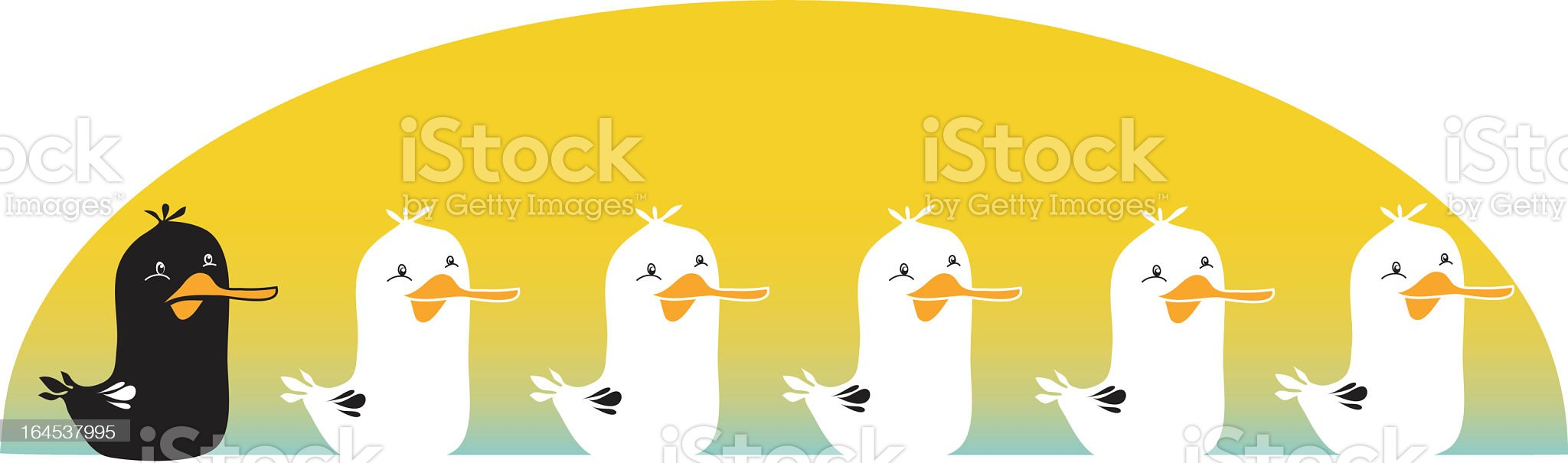 The Ugly Duckling royalty-free stock vector art
