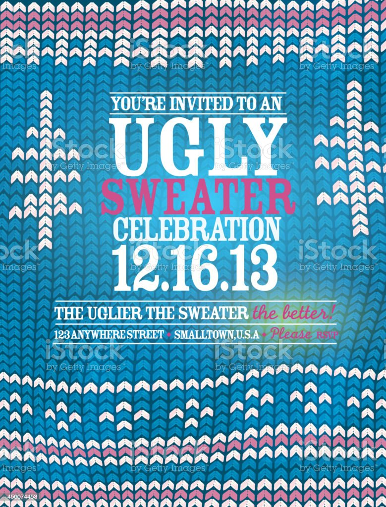 the ugly sweater holiday party celebration invitation design the ugly sweater holiday party celebration invitation design template royalty stock vector