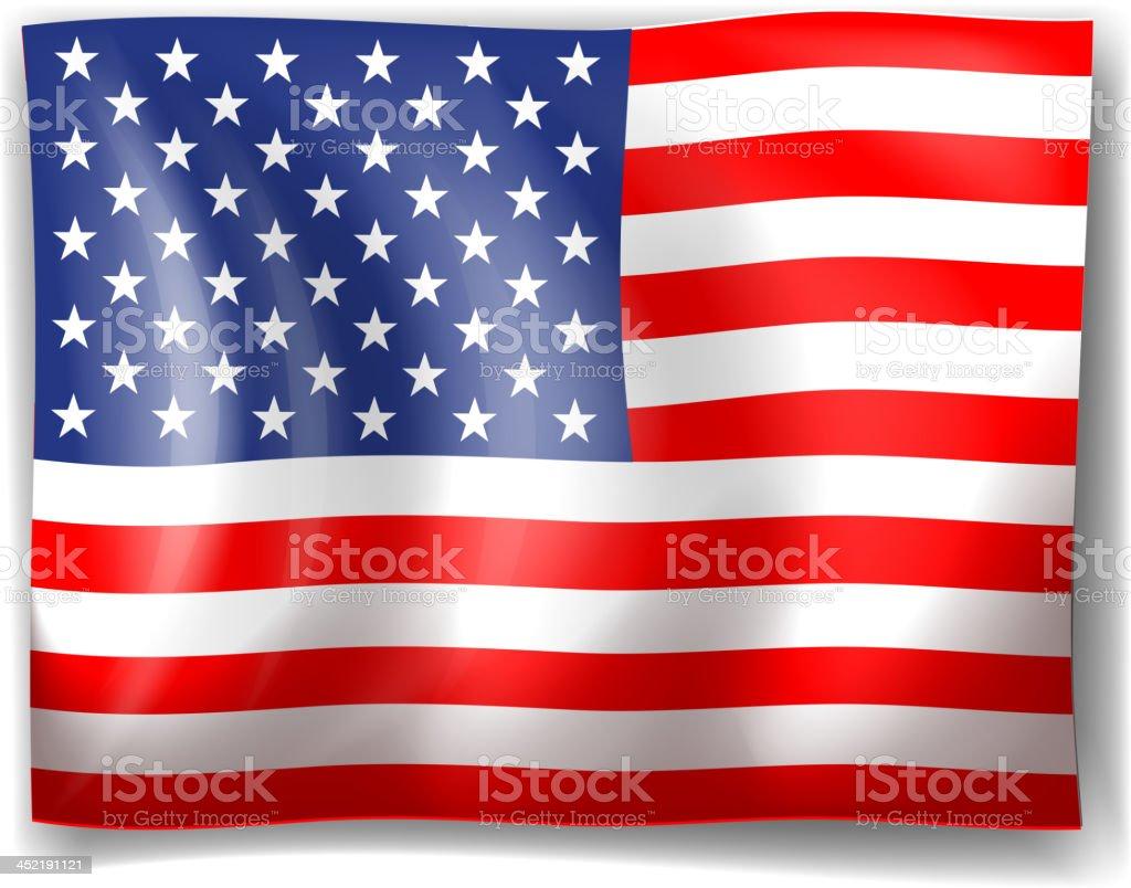 The USA flag royalty-free stock vector art