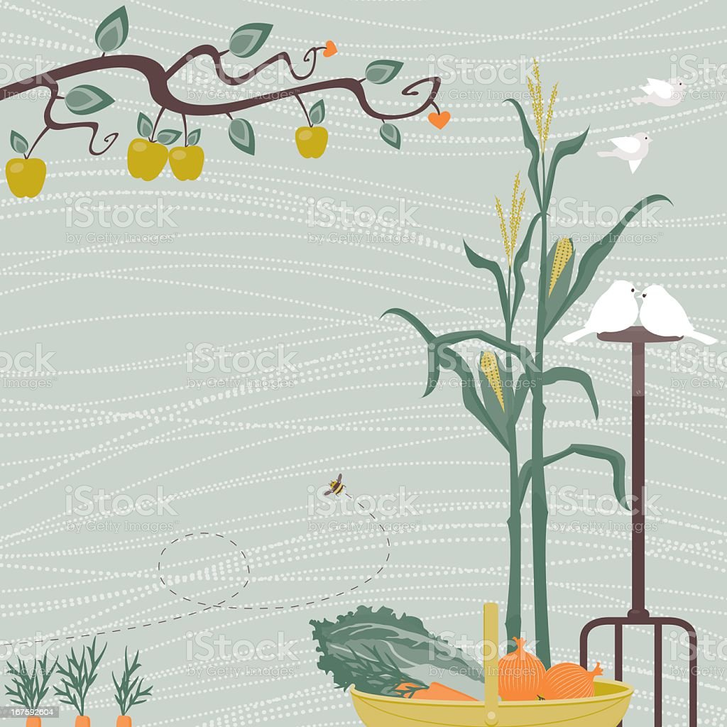 The Vegetable Patch royalty-free stock vector art