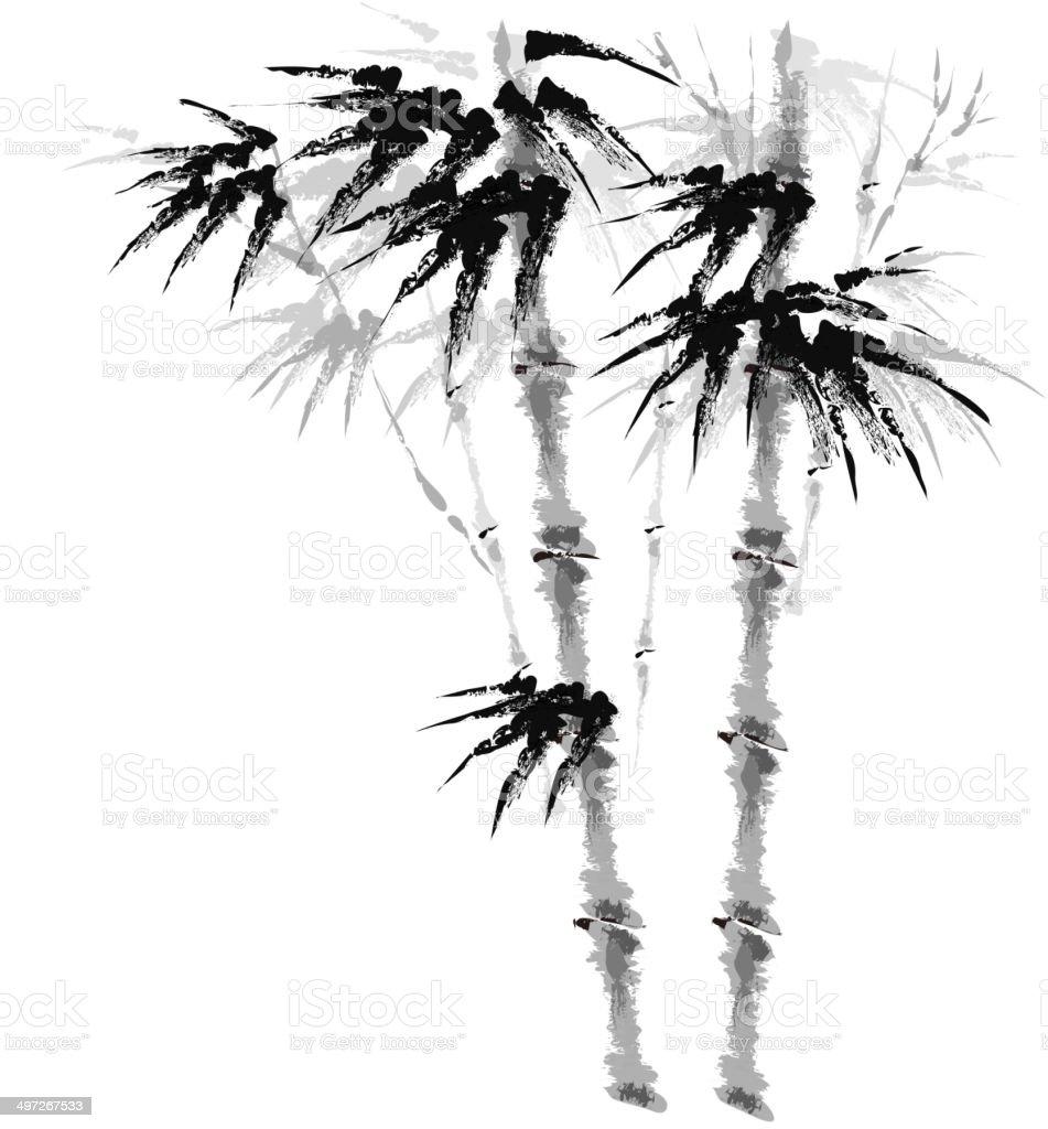 The view of bamboo nail royalty-free stock vector art