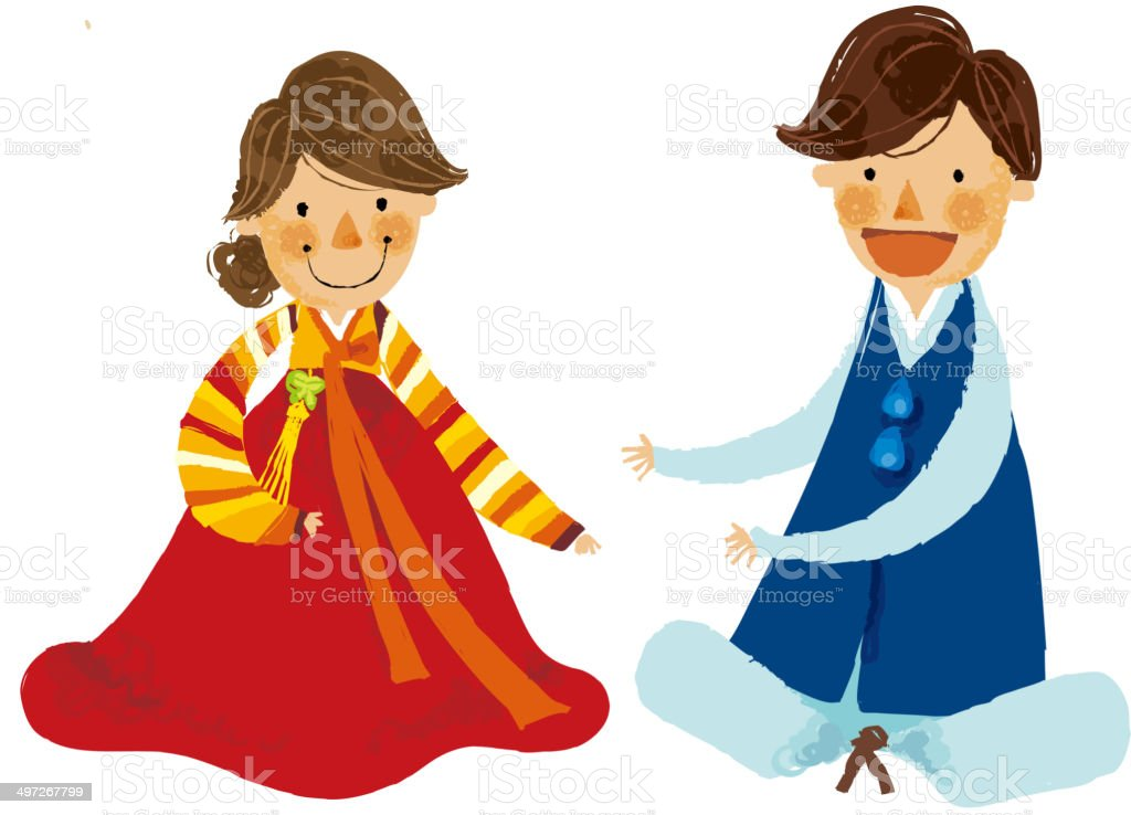 The view of couple royalty-free stock vector art