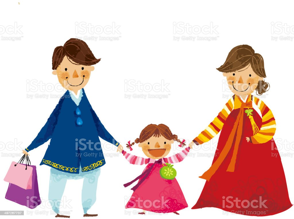 The view of family royalty-free stock vector art