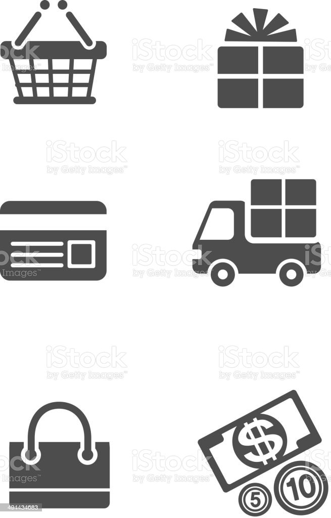 The view of icon set vector art illustration