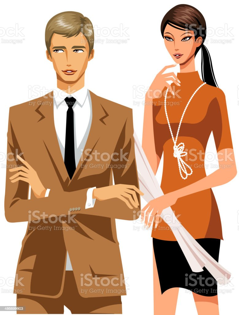 The view of people vector art illustration