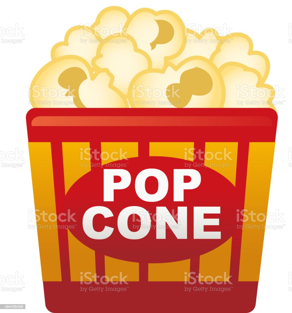 The view of popcone vector art illustration