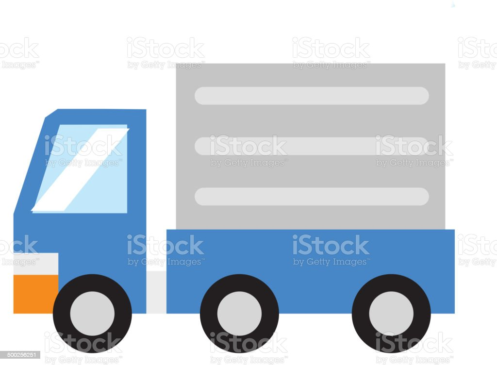 The view of removal van vector art illustration