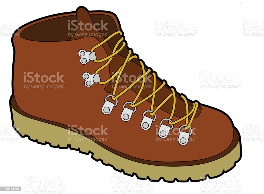 The view of shoe vector art illustration