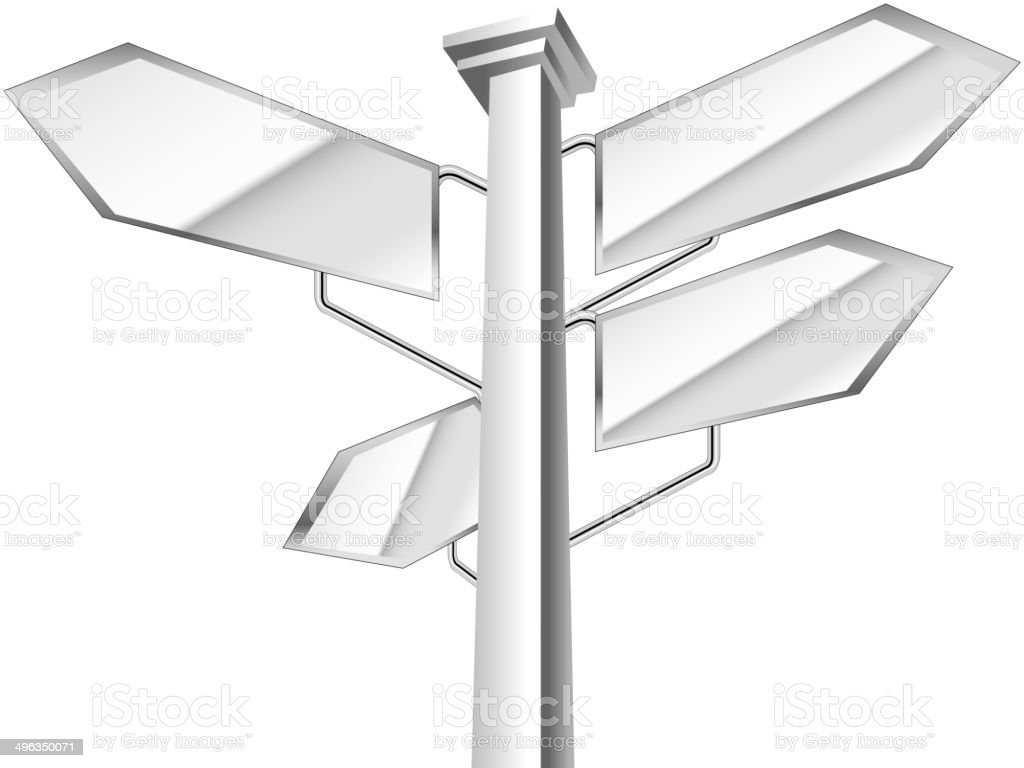 The view of signpost vector art illustration