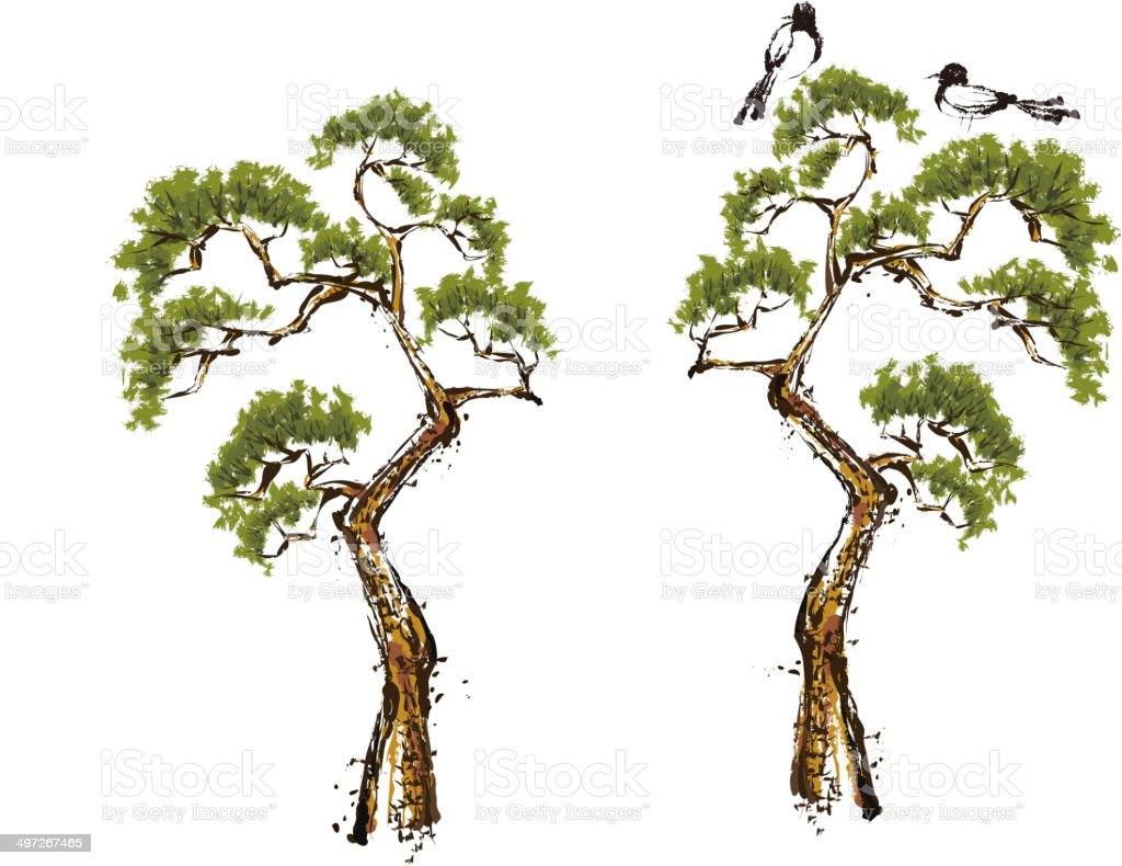 The view of tree vector art illustration