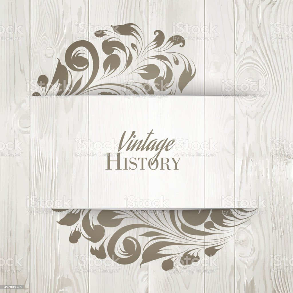 The vintage history card vector art illustration