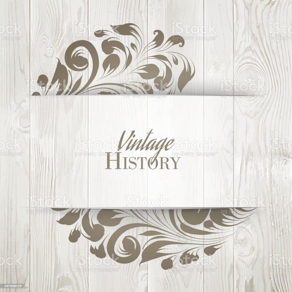 The vintage history card vector art illustration