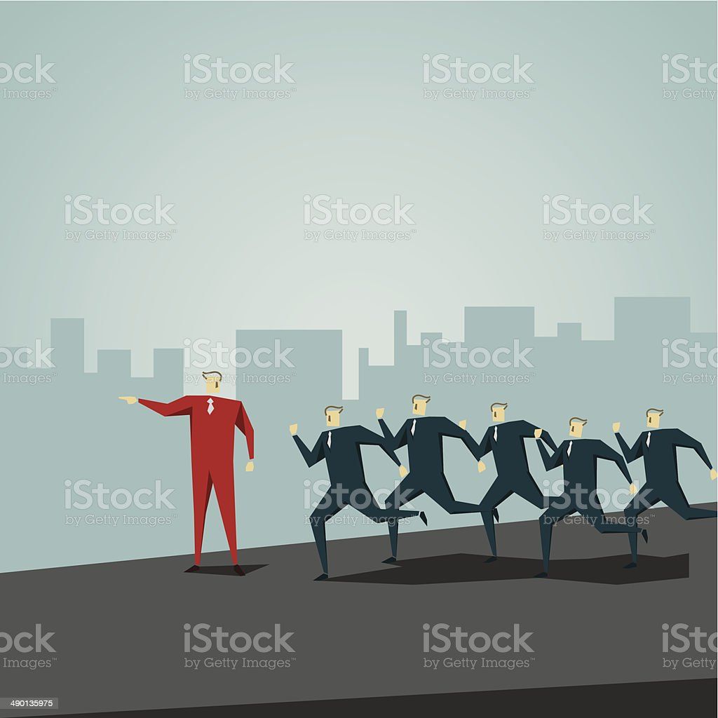 The Way Forward vector art illustration