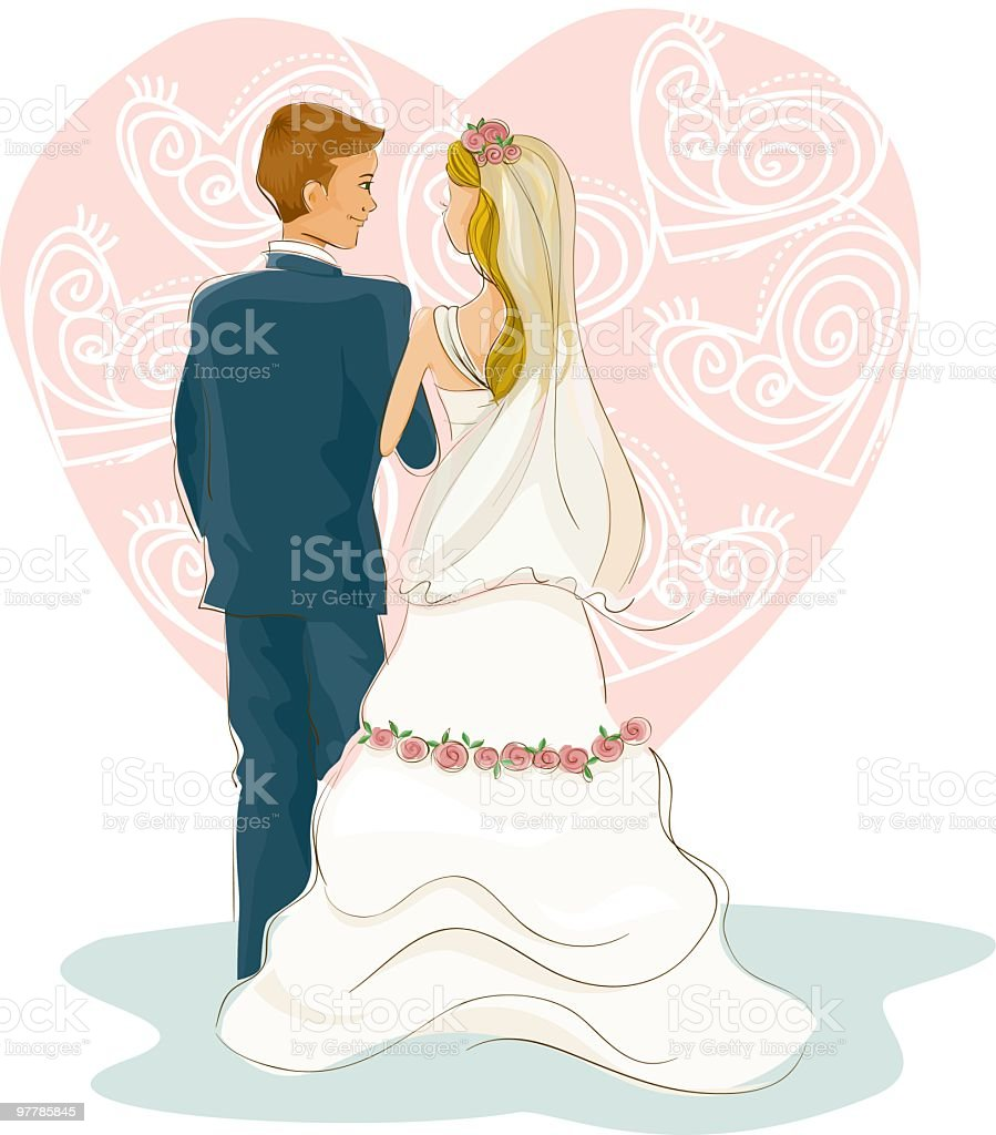 The way of love royalty-free stock vector art