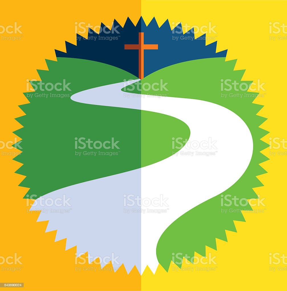 The Way of the Cross vector art illustration