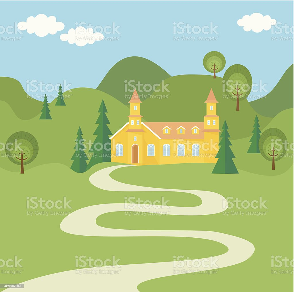 The Way To Home vector art illustration