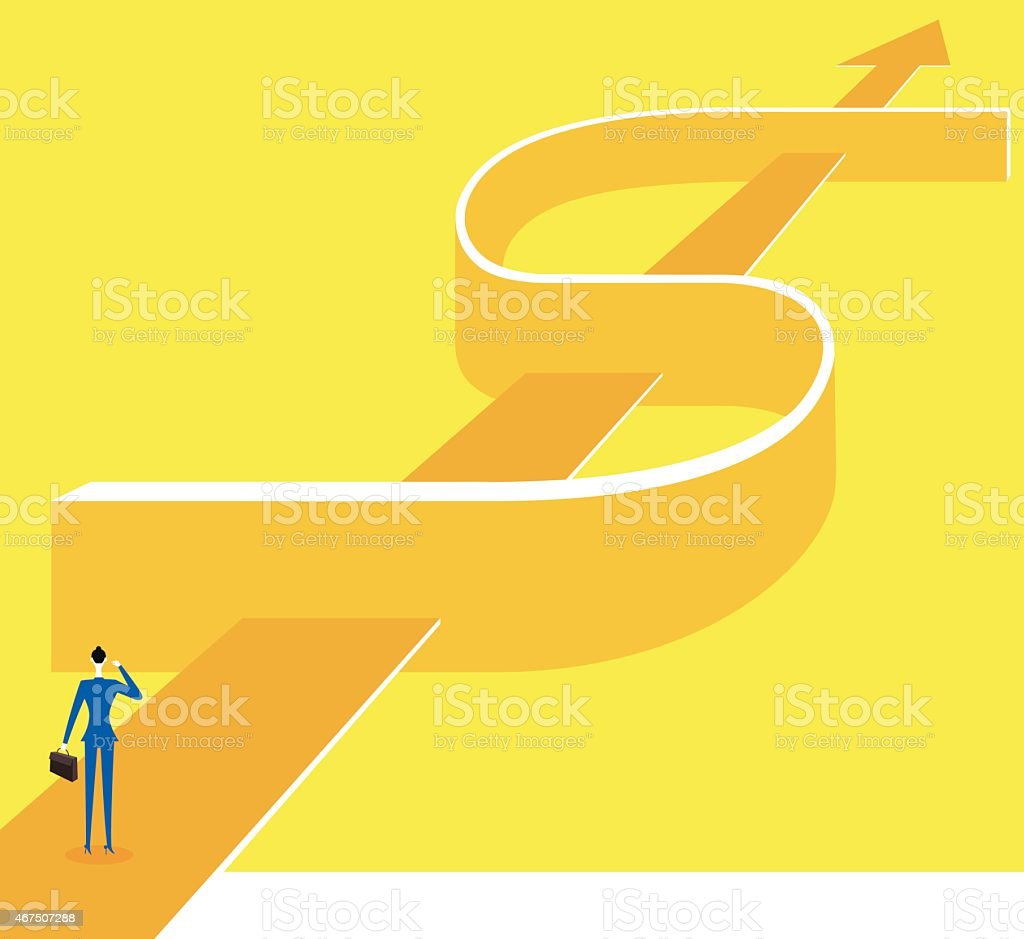 The way to success vector art illustration