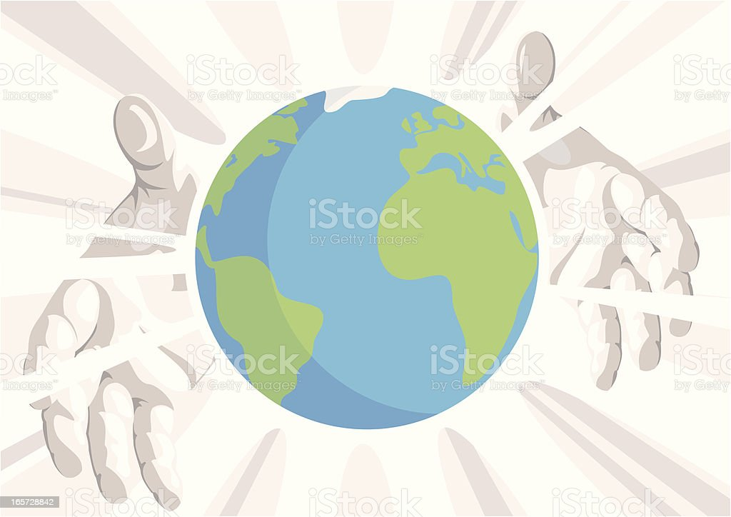 The Whole World In His Hands royalty-free stock vector art