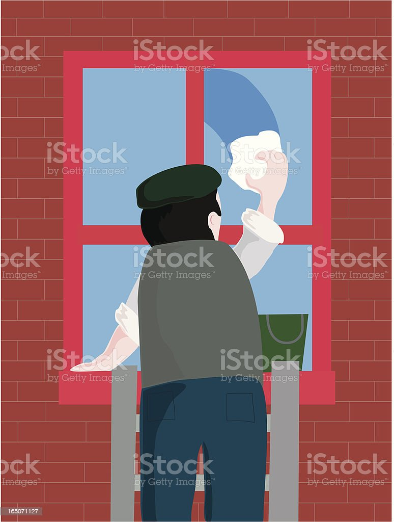 The Window Cleaner royalty-free stock vector art