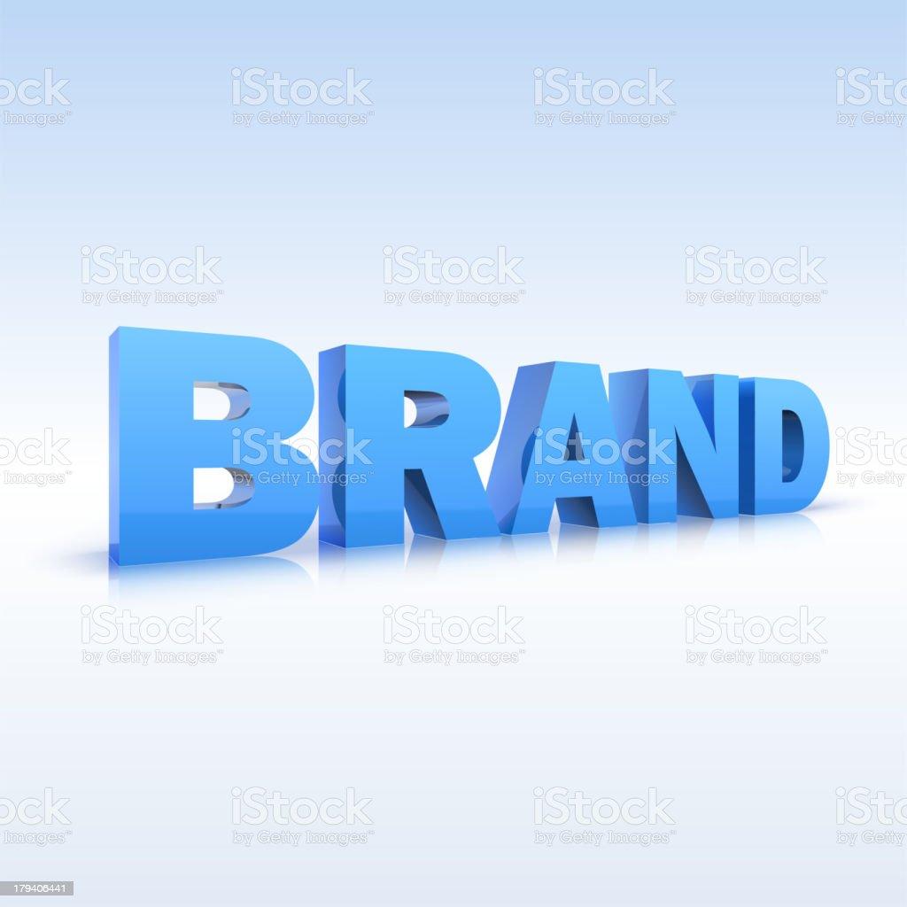 The word brand, volumetric, three-dimensional, vector royalty-free stock vector art